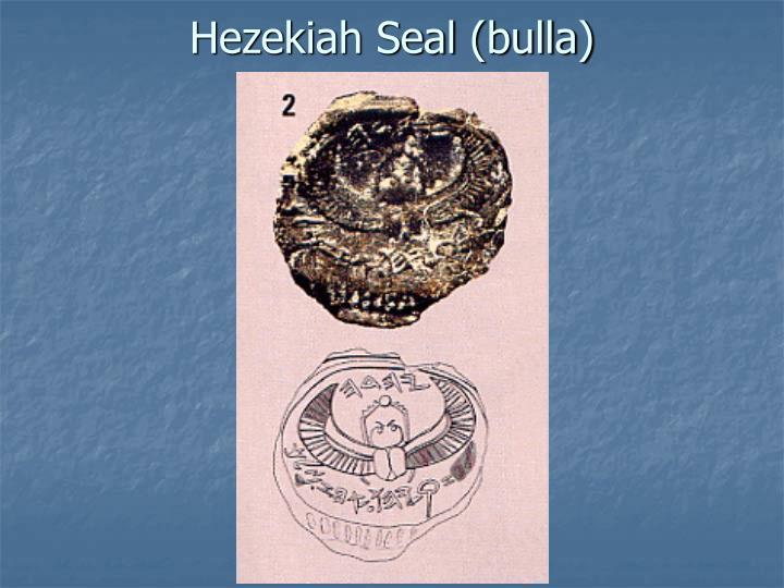 Hezekiah Seal (bulla)