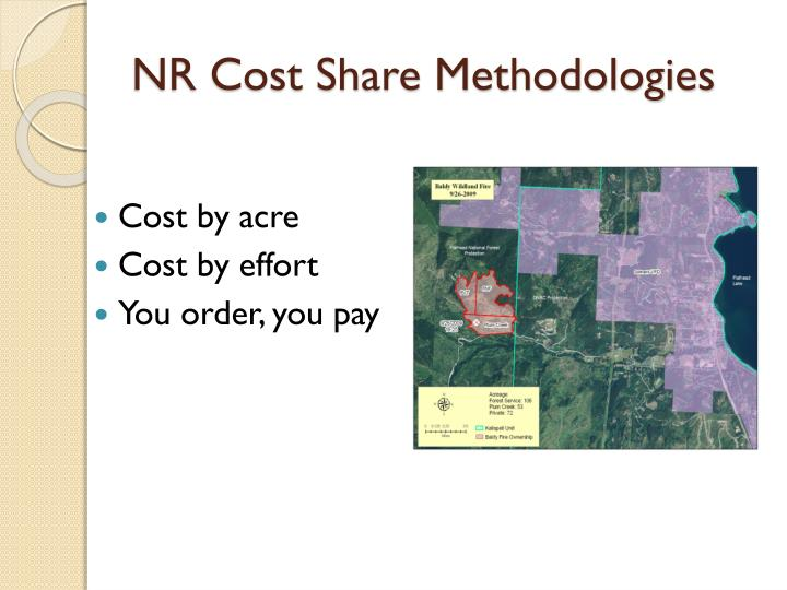 NR Cost Share Methodologies