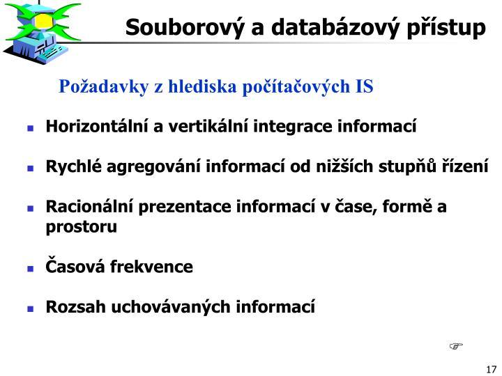 Souborový a databázový přístup