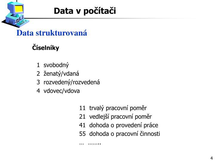 Data strukturovaná
