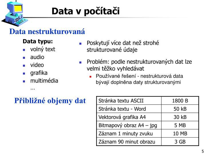 Data nestrukturovaná