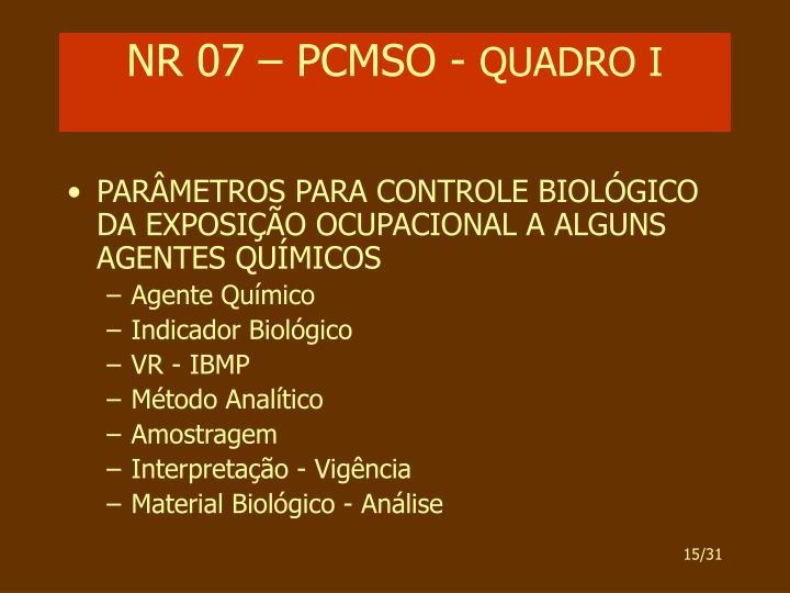 NR 07 – PCMSO -