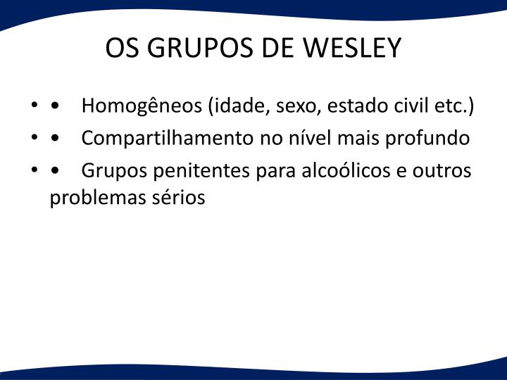 OS GRUPOS DE WESLEY