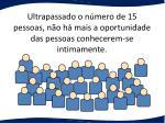 ultrapassado o n mero de 15 pessoas n o h mais a oportunidade das pessoas conhecerem se intimamente