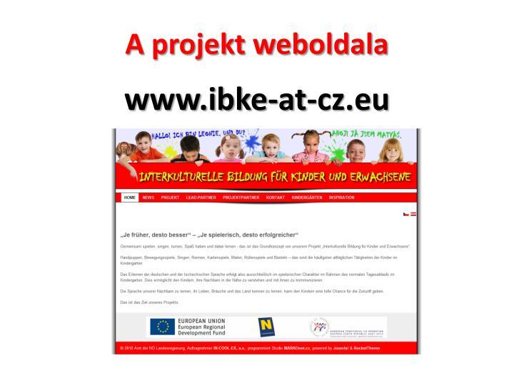 A projekt weboldala