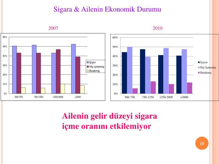 Sigara & Ailenin Ekonomik Durumu
