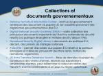 collections of documents gouvernementaux