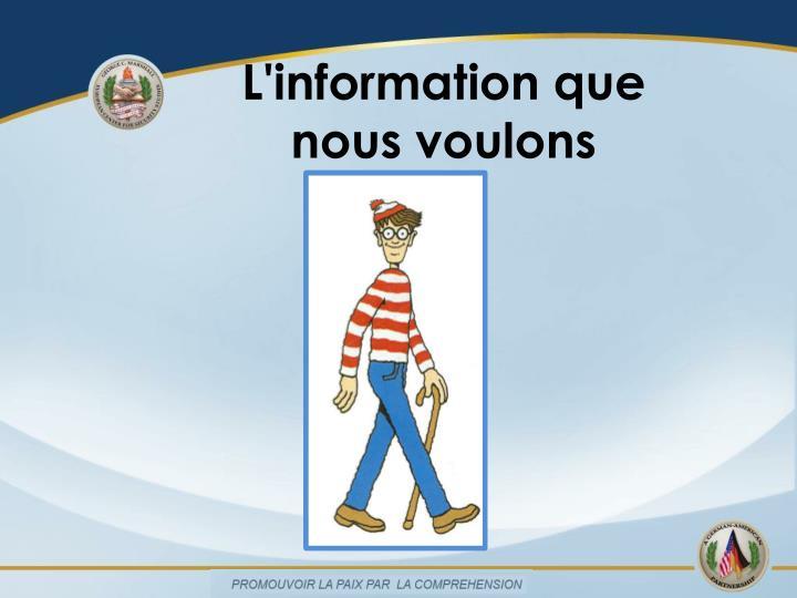 L'information que