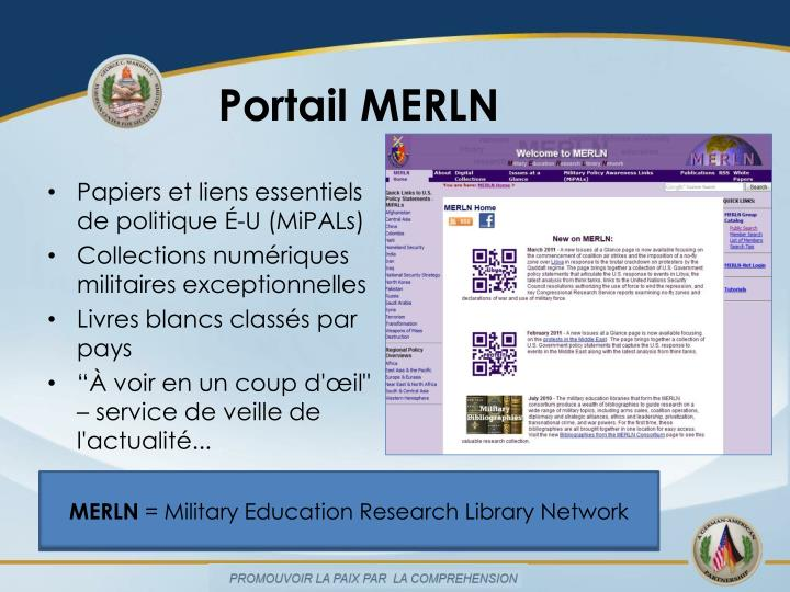 Portail MERLN