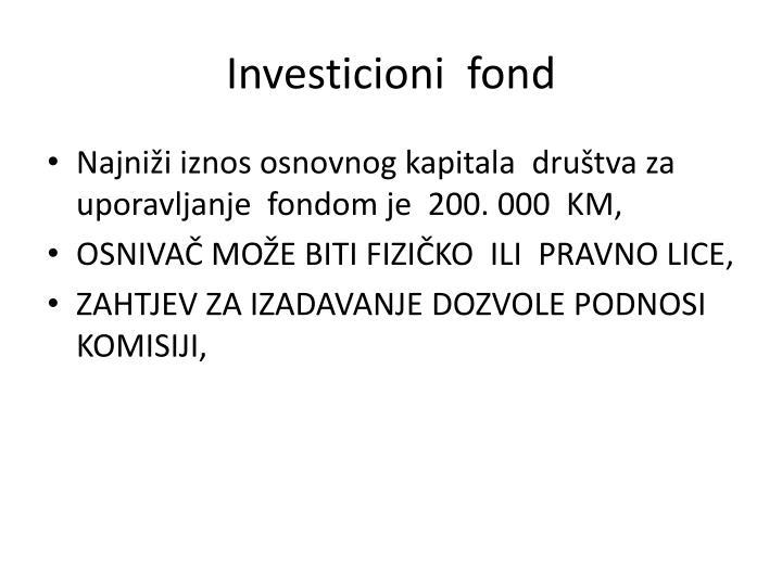 Investicioni  fond