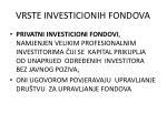 vrste investicionih fondova1