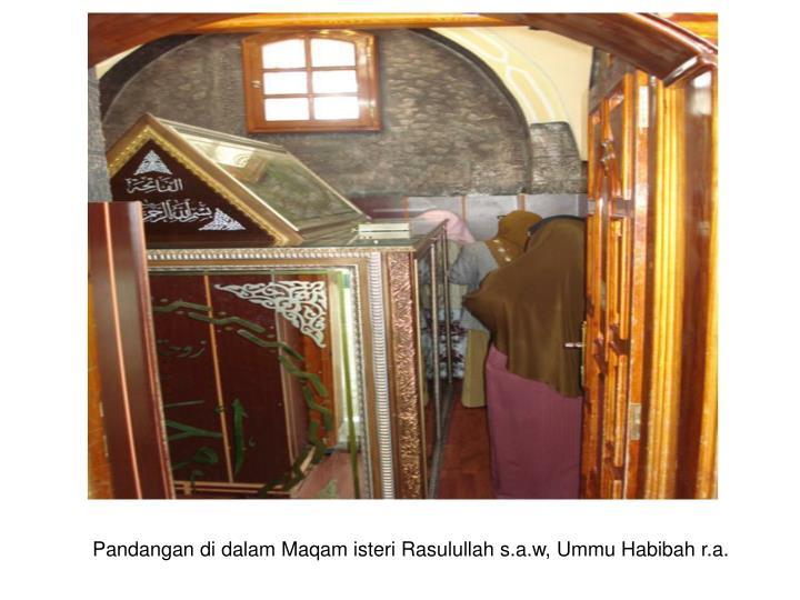 Pandangan di dalam Maqam isteri Rasulullah s.a.w, Ummu Habibah r.a.