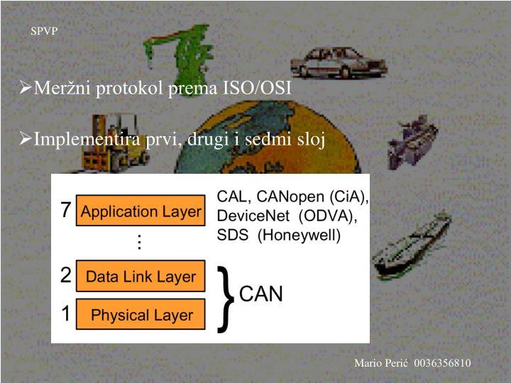 Meržni protokol prema ISO/OSI