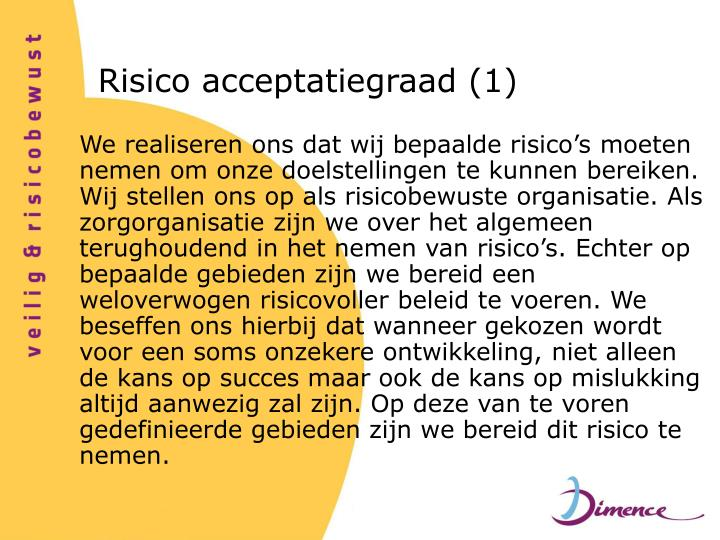 Risico acceptatiegraad (1)