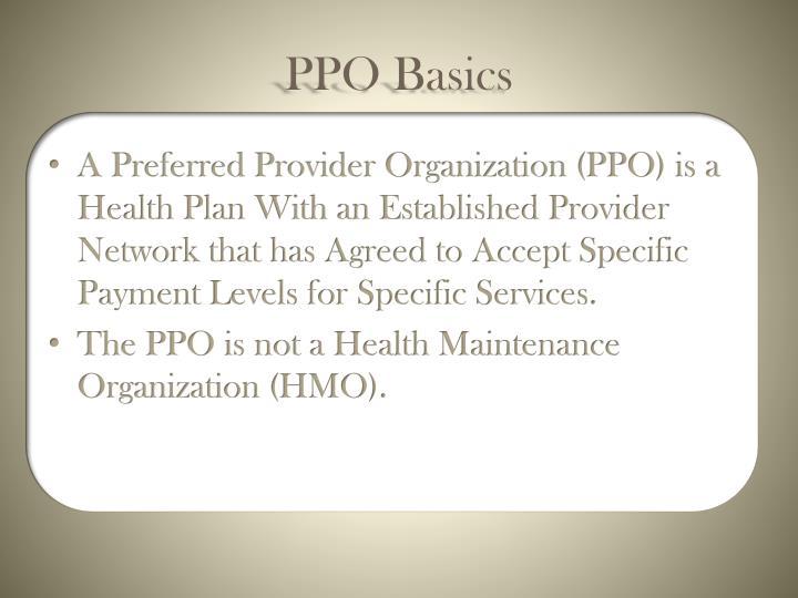 PPO Basics