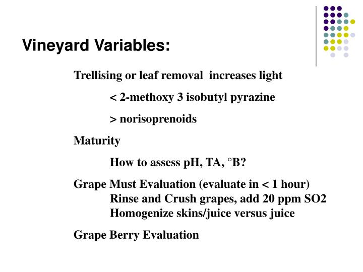 Vineyard Variables: