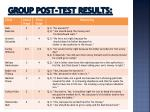 group post test results