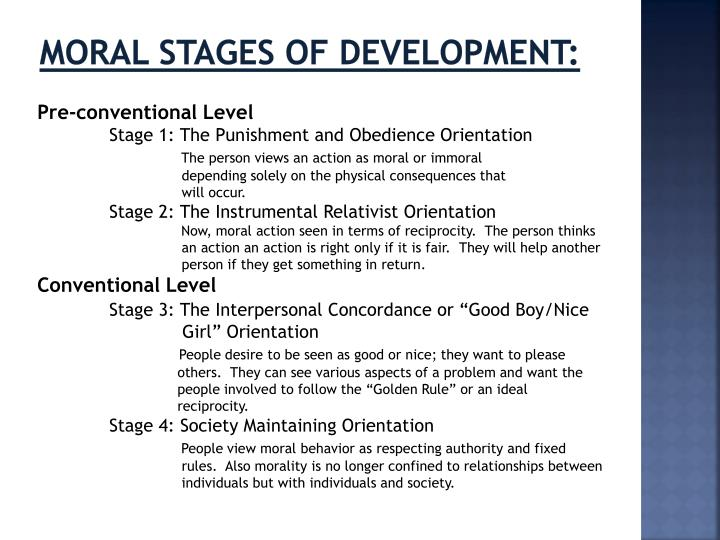 Moral Stages of Development: