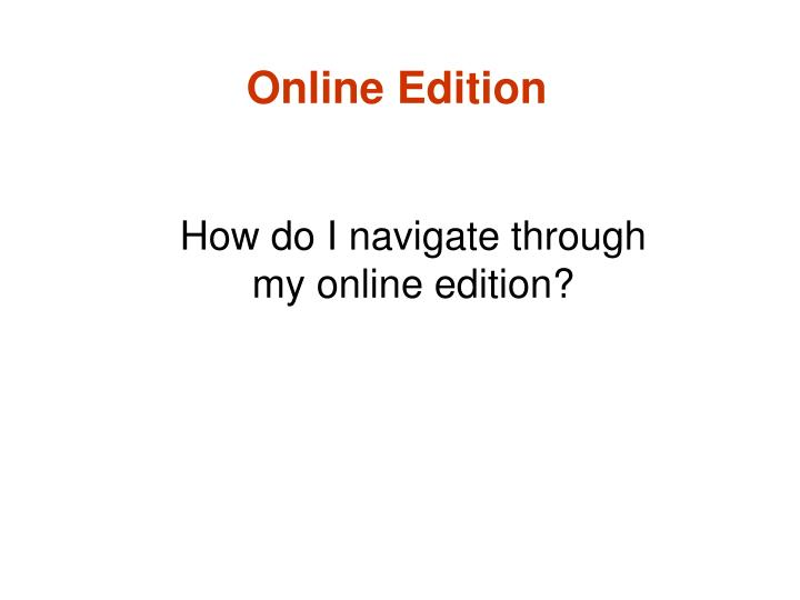 Online Edition