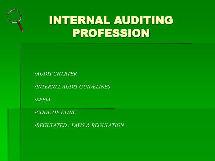 INTERNAL AUDITING PROFESSION