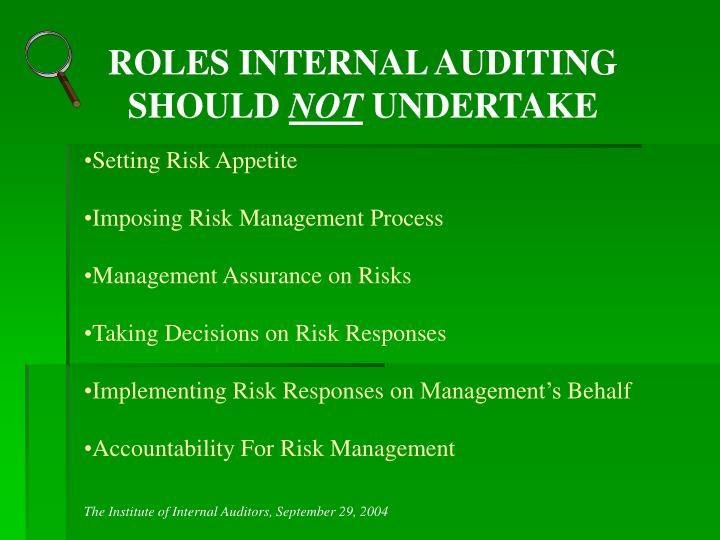 ROLES INTERNAL AUDITING SHOULD