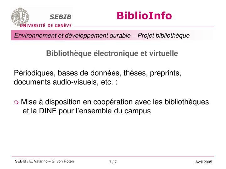 Bibliothèque électronique et virtuelle
