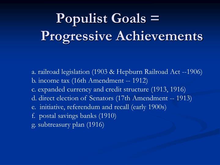 main goals of the progressive movement essay