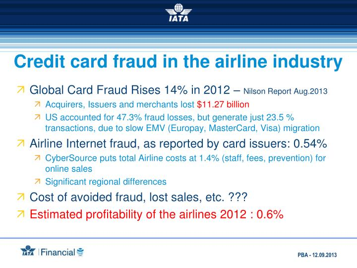 Credit card fraud in the airline industry