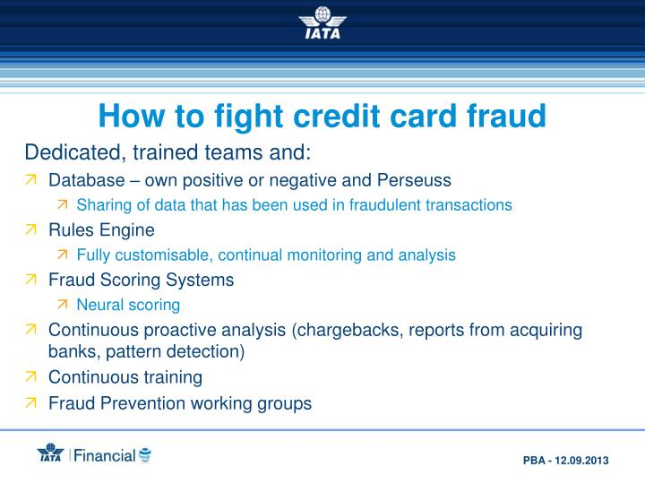 How to fight credit card fraud