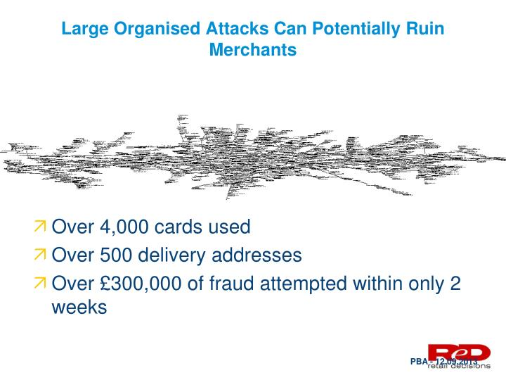 Large Organised Attacks Can Potentially Ruin Merchants