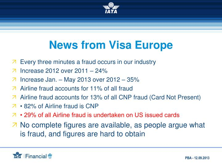 News from Visa Europe