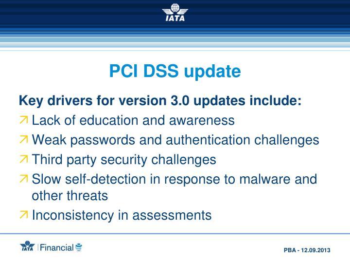 PCI DSS update