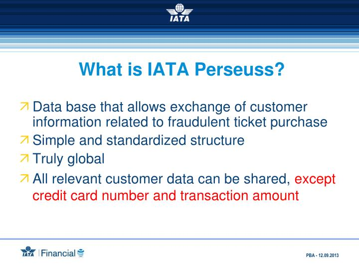 What is IATA Perseuss?