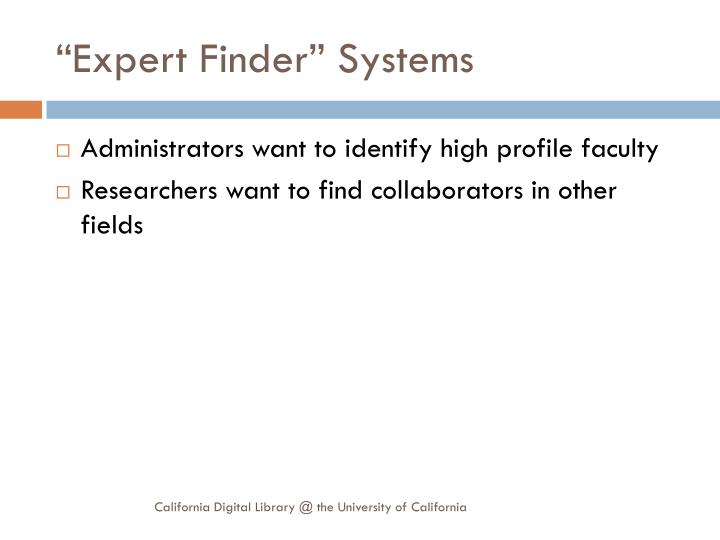 """Expert Finder"" Systems"