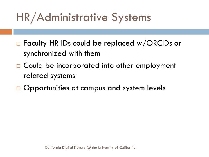 HR/Administrative Systems