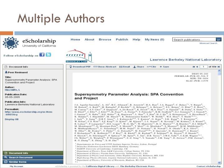Multiple Authors