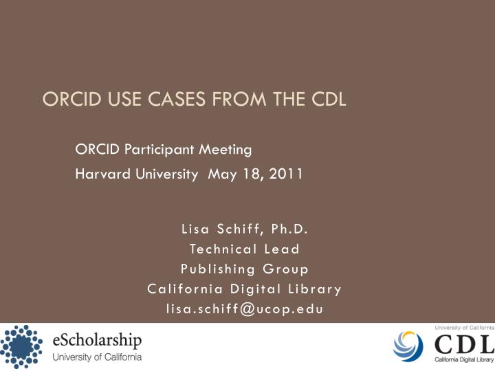 ORCID Participant Meeting