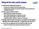 taking the first step pointer analysis