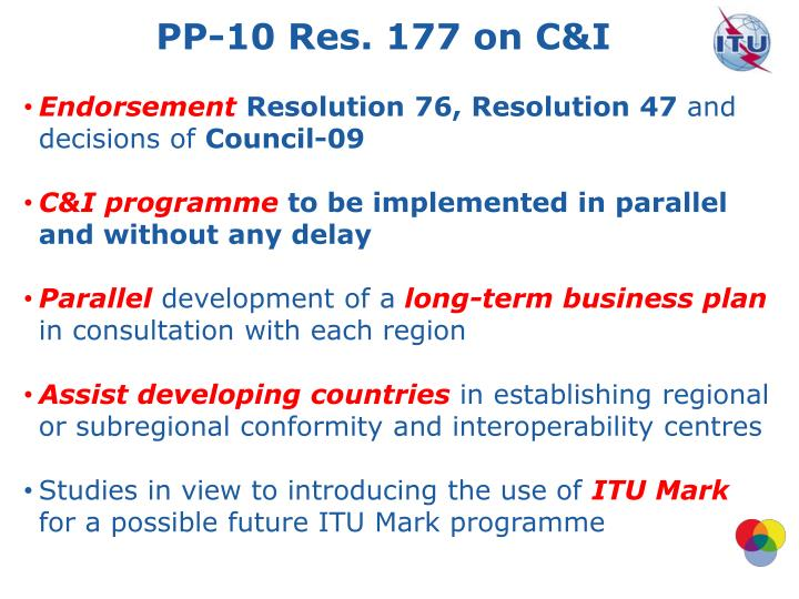 PP-10 Res. 177 on C&I