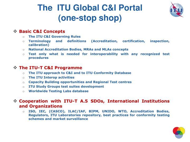 The  ITU Global C&I Portal