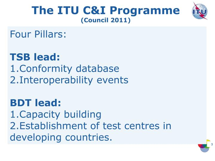The ITU C&I Programme
