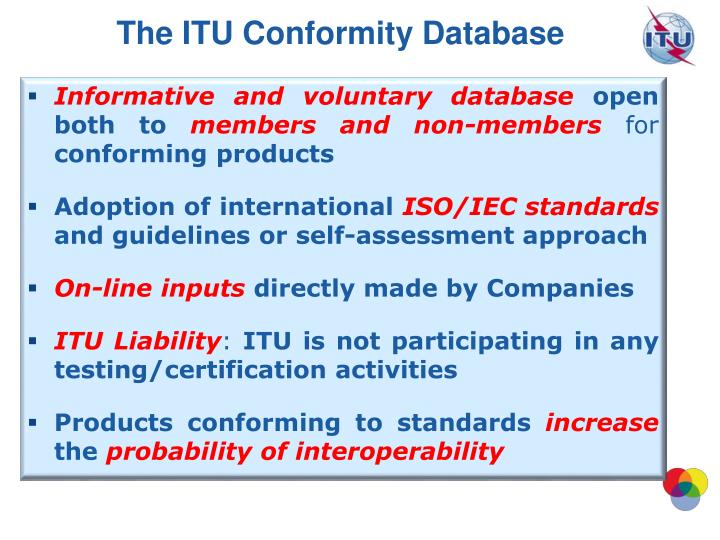The ITU Conformity Database