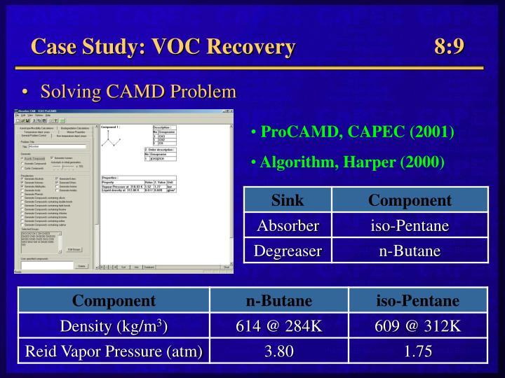 Case Study: VOC Recovery         8:9