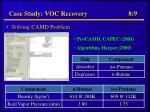 case study voc recovery 8 9