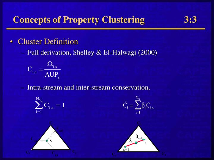 Concepts of Property Clustering3:3