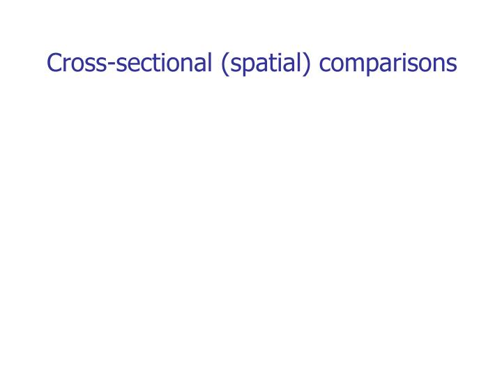 Cross-sectional (spatial) comparisons
