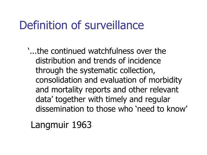 Definition of surveillance