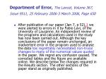 department of error the lancet volume 367 issue 9511 25 february 2006 3 march 2006 page 650
