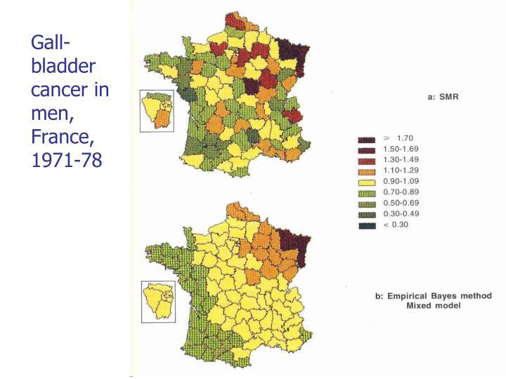 Gall-bladder cancer in men, France, 1971-78