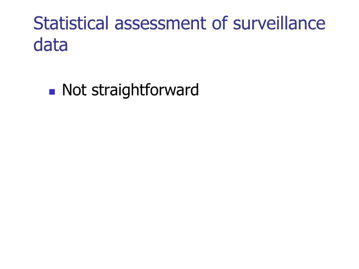 Statistical assessment of surveillance data